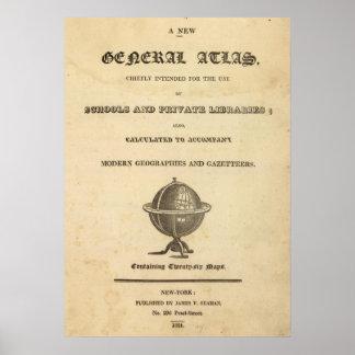 Nuevo atlas general póster