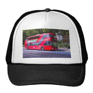 Nuevo autobús del rojo de Londres Gorros Bordados
