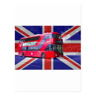Nuevo autobús del rojo de Londres Tarjeta Postal