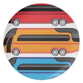 Nuevo autobús plato para fiesta
