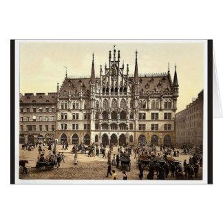 Nuevo ayuntamiento, Munich, Baviera, Alemania pH c Tarjeton