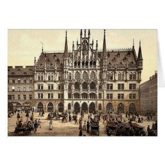 Nuevo ayuntamiento, Munich, Baviera, Alemania pH c Tarjeta