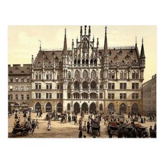 Nuevo ayuntamiento, Munich, Baviera, Alemania pH c Postales