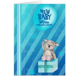 Nuevo azul de la tarjeta de la koala de Keddy del