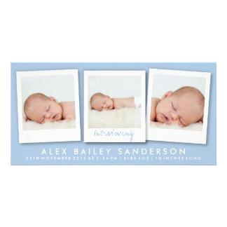 Nuevo azul de las fotos el | del múltiplo de la ta tarjeta fotográfica personalizada