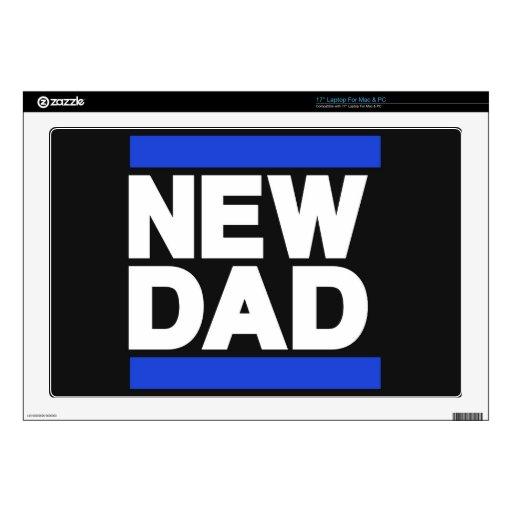Nuevo azul del papá calcomanías para portátiles