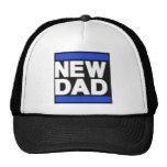Nuevo azul del papá gorros bordados