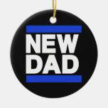 Nuevo azul del papá ornamentos para reyes magos