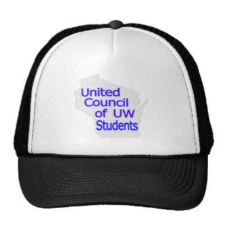 Nuevo azul unido del logotipo del consejo en gris gorra