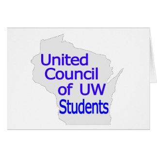 Nuevo azul unido del logotipo del consejo en gris felicitacion