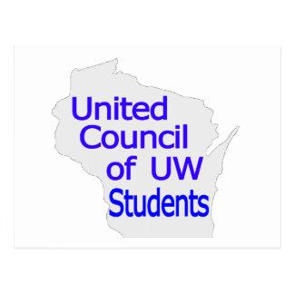Nuevo azul unido del logotipo del consejo en gris postal