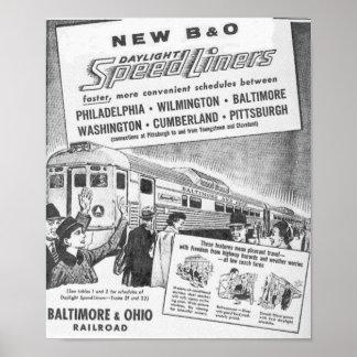 Nuevo B&O Budd construyó los posters de Speedliner