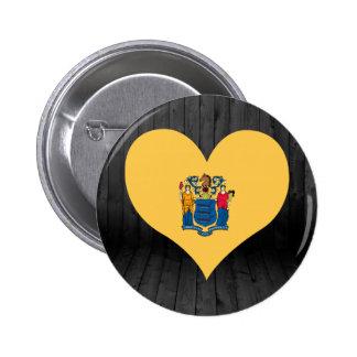 Nuevo+Bandera del jersey coloreada Pin Redondo 5 Cm