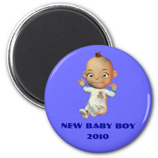 Nuevo bebé, 2010 imán redondo 5 cm