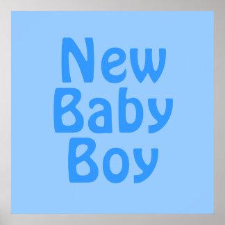 Nuevo bebé. Azul Posters