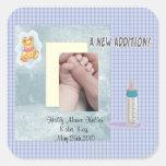 Nuevo bebé de la adición calcomanías cuadradas