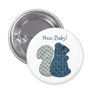 Nuevo bebé de la ardilla azul linda del estilo rur pin redondo 2,5 cm