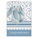 nuevo bebé de la enhorabuena tarjeta