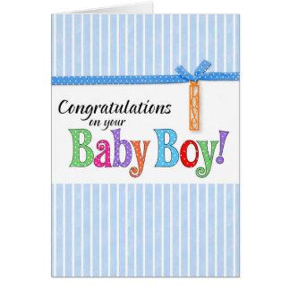 nuevo bebé de la enhorabuena tarjeta de felicitación