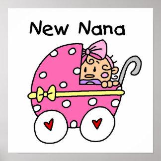 Nuevo bebé de Nana en regalos del carro Póster