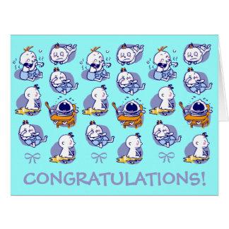 nuevo bebé de tamaño de la enhorabuena gigante de  tarjeta de felicitación grande