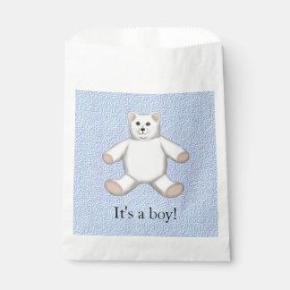 Nuevo bebé es bolsos del muchacho de un favor de