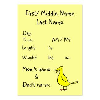 Nuevo bebé - invitación del nacimiento - plantilla tarjeta de visita