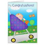 Nuevo bebé/llegada de la enhorabuena de encargo felicitacion
