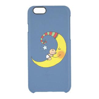 nuevo bebé que duerme en la luna funda clearly™ deflector para iPhone 6 de uncommon