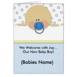 Nuevo bebé tarjetas