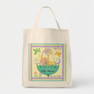 Nuevo bolso de encargo del regalo del bebé bolsa tela para la compra