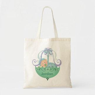 Nuevo bolso de encargo del regalo del bebé/de la m bolsa tela barata