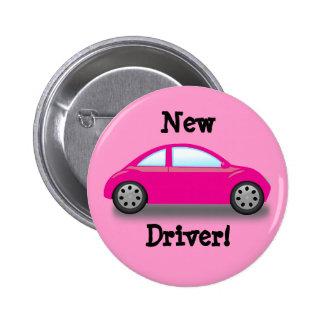 Nuevo botón del coche del rosa del conductor pin redondo de 2 pulgadas