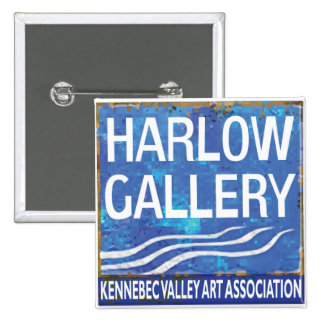 NUEVO botón del logotipo de la galería de Harlow Pin Cuadrado