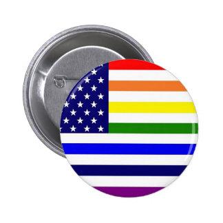 Nuevo botón del orgullo gay de la gloria pin redondo de 2 pulgadas