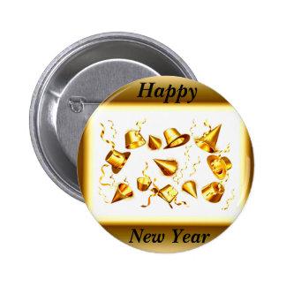 Nuevo botón feliz de Year_ Pin Redondo De 2 Pulgadas