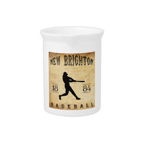 Nuevo Brighton Pennsylvania béisbol de 1884 Jarras De Beber
