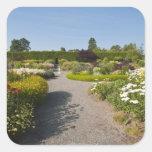 Nuevo Brunswick, Canadá. Jardín de Kingsbrae en el Calcomanías Cuadradass Personalizadas