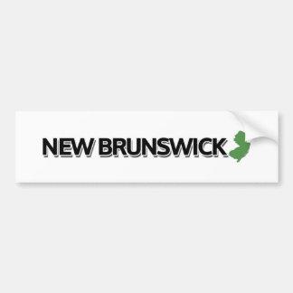 Nuevo Brunswick, New Jersey Pegatina Para Auto