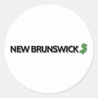 Nuevo Brunswick, New Jersey Pegatina Redonda