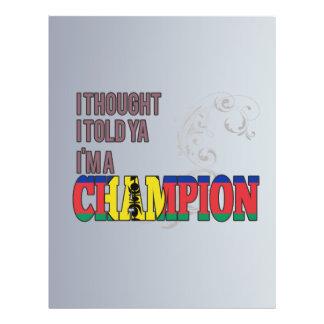 Nuevo caledonio y un campeón tarjeta publicitaria