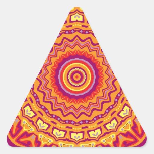 Nuevo caleidoscopio de Priscilla del arte pop Calcomania De Triangulo Personalizadas