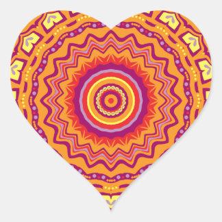 Nuevo caleidoscopio de Priscilla del arte pop Pegatina En Forma De Corazón