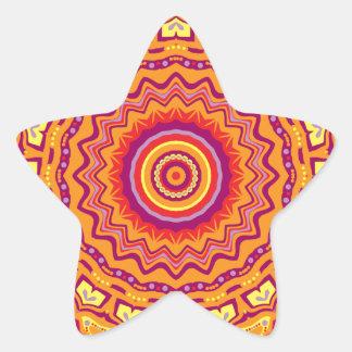 Nuevo caleidoscopio de Priscilla del arte pop Pegatina En Forma De Estrella