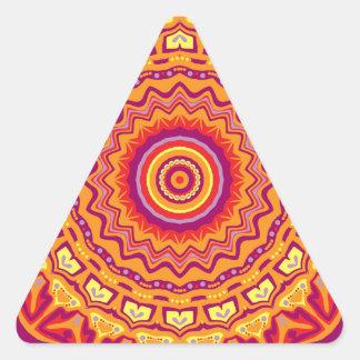 Nuevo caleidoscopio de Priscilla del arte pop Pegatina Triangular