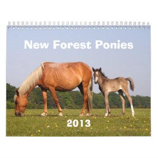 Nuevo calendario de los potros 2013 del bosque