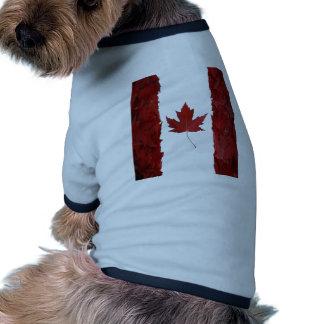 nuevo canadiense de la bandera del arce camiseta de perrito
