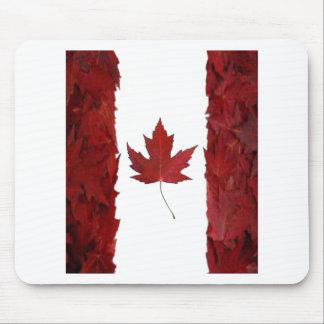 nuevo canadiense de la bandera del arce alfombrillas de raton