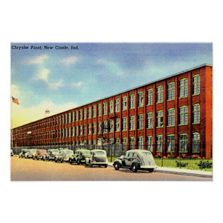Nuevo castillo, planta de Indiana Chrysler Póster
