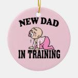 Nuevo chica del papá adorno